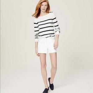 "LOFT Sailor Riviera Shorts with 4"" inseam"